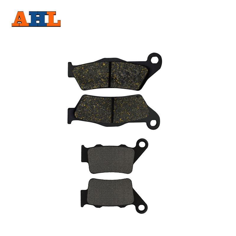 AHL Motorcycle Front and Rear Brake Pads for KTM EXC450 EXC525 -2003 Black Brake Disc Pad motorcycle front and rear brake pads for ktm sx 525 2003 2006 xc 525 desert racing 2007 sintered brake disc pad