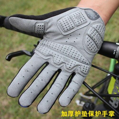 2016 Hot Cykelhandskar Cykelsport Full Finger Handskar GEL Pad Shock - Cykling - Foto 4