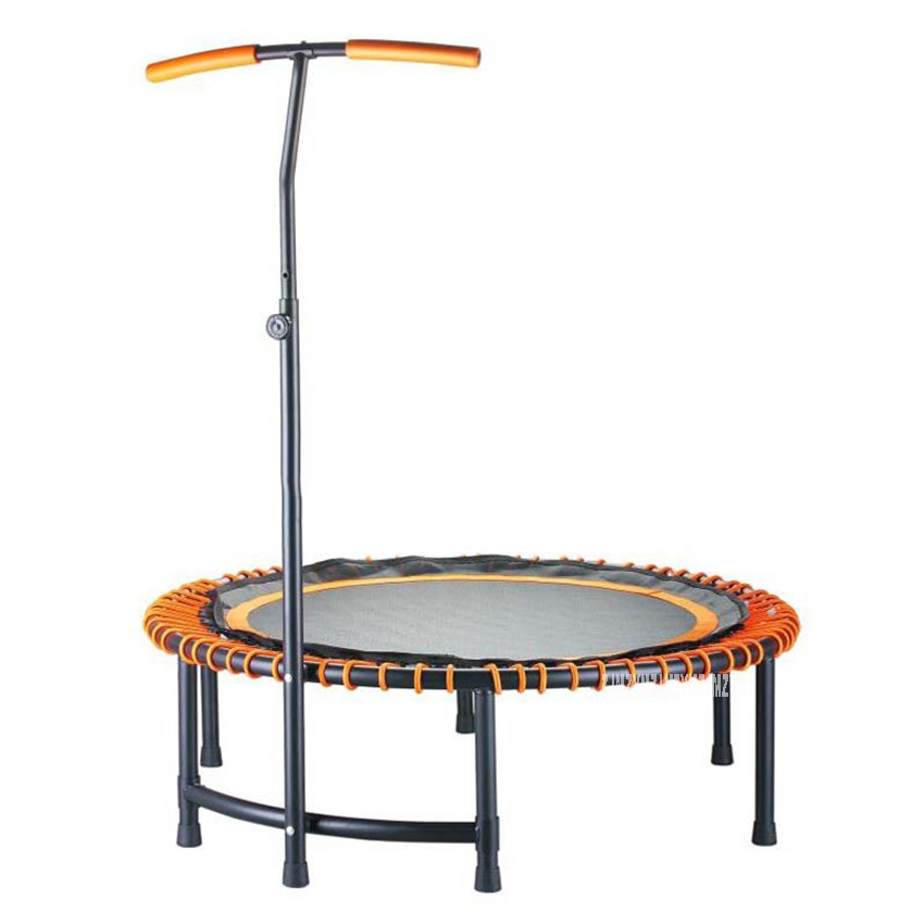 45/48 inch High quality Practical Trampoline For Women Adult Trampoline Safety Pad Jump Sports Safe With T Shape Handrail 16 feet high quality practical trampoline with safe protective net jump safe bundle spring safety with ladder load weight 700kg