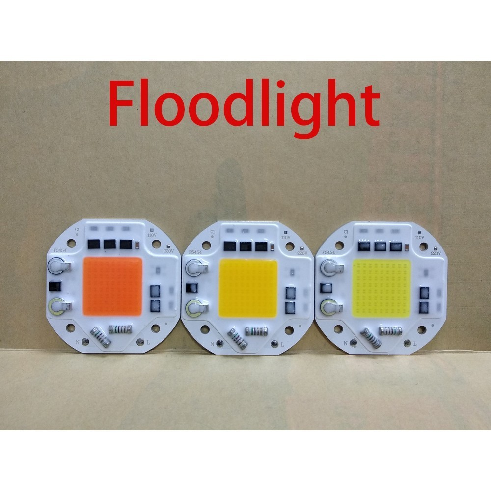 LED COB CHIP 20W 30W 50W Full Spectrum International General Voltage No Need Driver Smart Ic For Diy Floodlight Spotlight