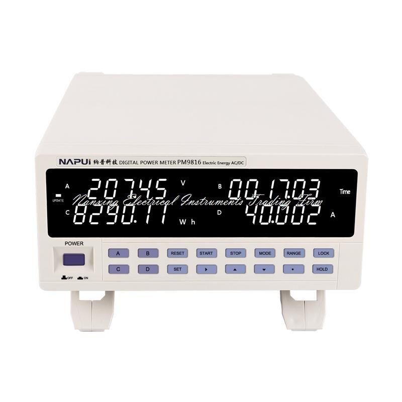Быстрое прибытие PM9816 новый бренд TRMS AC/DC напряжение тока коэффициент мощности и мощность Электрический счетчик энергии 600 В, 25А