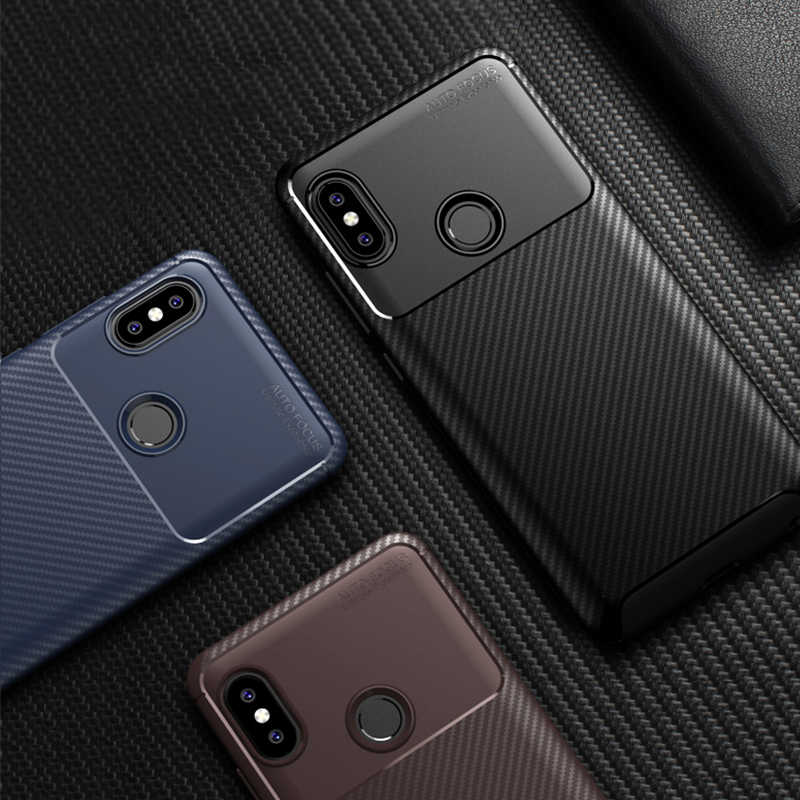 Soft Carbon Fiber Silicone Case for Xiaomi Mi 9 8 Lite Se Max MIX 3  Pocophone F1 Redmi 7 Go 6a 5 Plus Note 7 6 5 Pro Back Cover