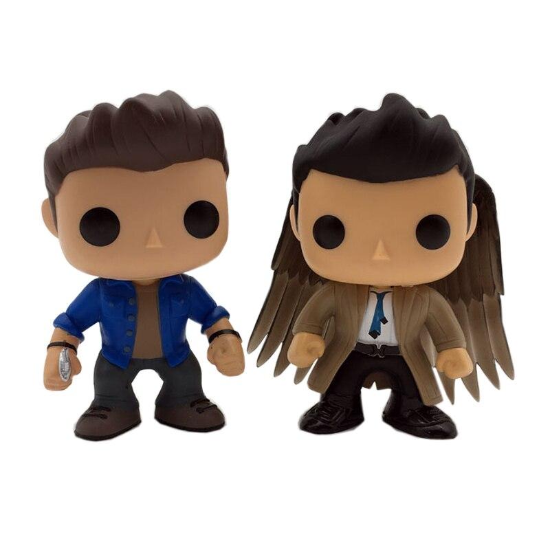 10cm Supernatural SPN Character Castiel 95 & Dean 94 Action Figure Toys