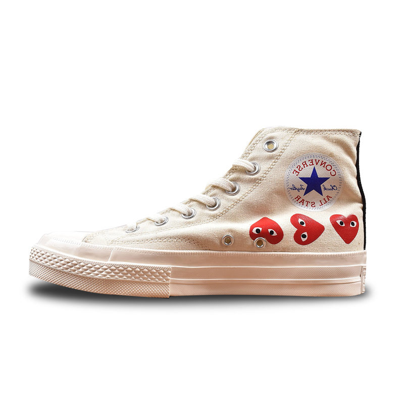 174e6420d95 Converse All Star CDG X Chuck Taylor 1970s HiOX 18SS Skateboarding White  High Top Authentic for Men and Women Casual Shoes Sport-in Skateboarding  from ...
