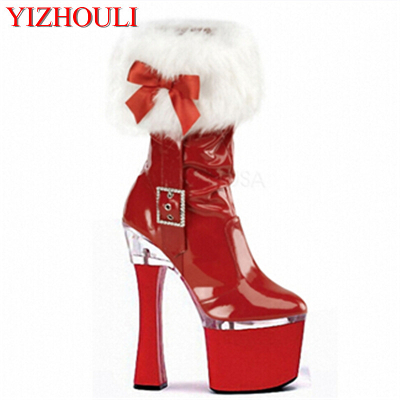 2018 hot-selling classic 8-10 inch short boots 18-20 cm high heel boots platform shoes thin heel ankle boots цена