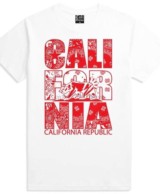be0aa290 ... red bandana california t shirt street wear clothing huelga bird cali ...