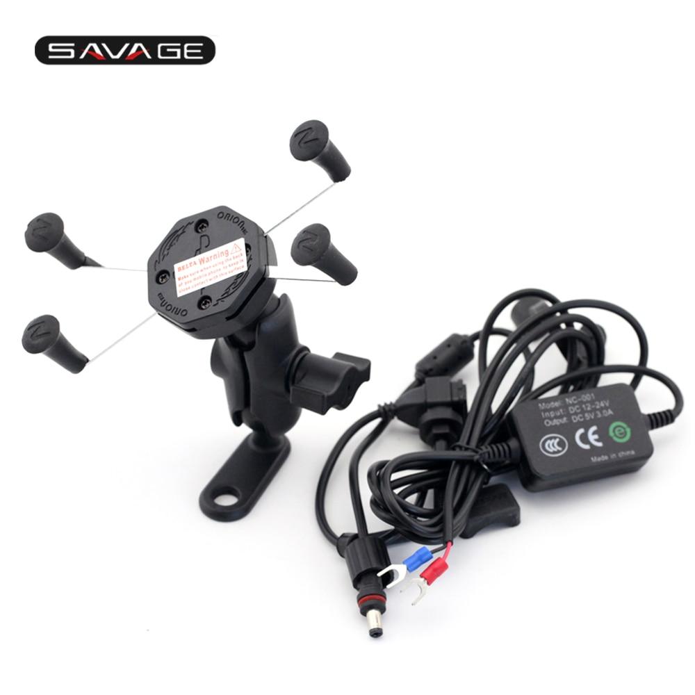 Для YAMAHA XJR1300 XJR1200 ФЗ-1 ФЗ-8 ФЗ-6Н/навигации Кронштейн с USB порт для зарядки телефона держатель Аксессуары для мотоциклов