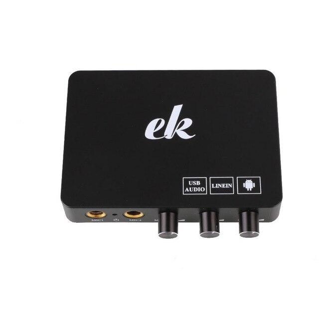 Домашний Мини-Система Караоке Эхо цифровой Звуковой Микшер аудио Машина Box Для Android TV Box PC Smart TV
