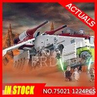 Star Wars Republic Gunship Space Figuter Building Blocks Model Bricks Toys StarWars Gifts Compatible Legoing 75021 Christmas Toy