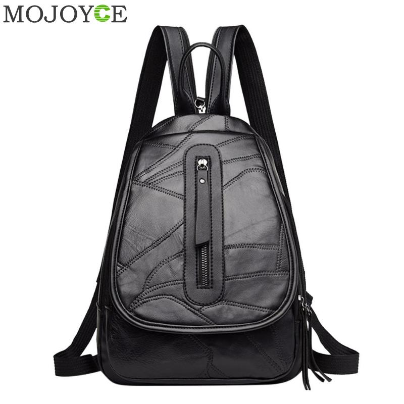 176df4081b3 US $12.77 29% OFF|Preppy Style Women Backpacks PU Leather School Bags for  Teenager Girls Travel Casual Shoulder Bag Small Backpack Female Rucksack-in  ...
