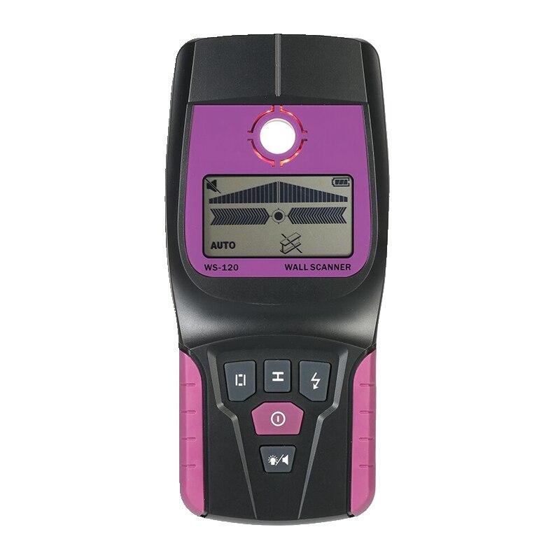 Красивый ручной настенный сканер черного металла медный деревянный кабель переменного тока Live Wire Detector Finder lcd Wall Diagnostic-tool Max: 110 мм
