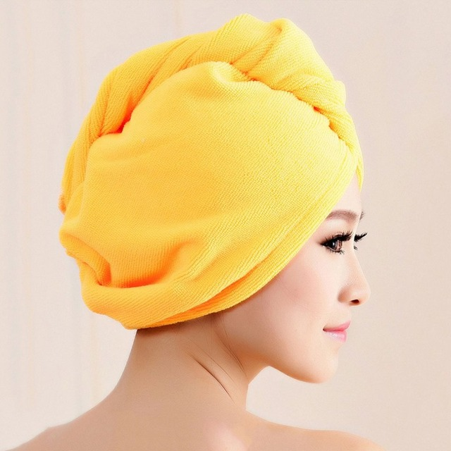 ccf3415aaa0 Diffuser Superfine Fiber Bath Hair Dry Hat Shower Cap Soft Strong Water  Absorbing Quick Dry Head
