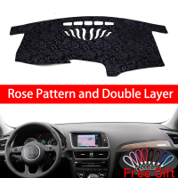 Rose Pattern For AUDI Q5 2010 2011 2012 2013 2018 Dashboard Cover Car Stickers Car Decoration Car Accessories Car Decals
