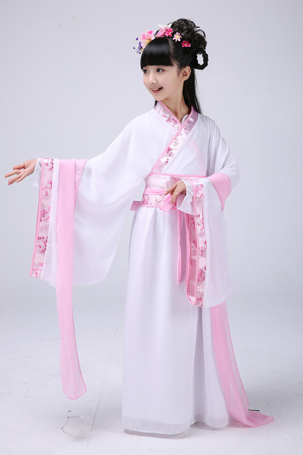 e8e749f1faa Girl Ancient Chinese Traditional National Costume Hanfu Dress Princess  Children Hanfu Dresses Cosplay Clothing Girls Kids