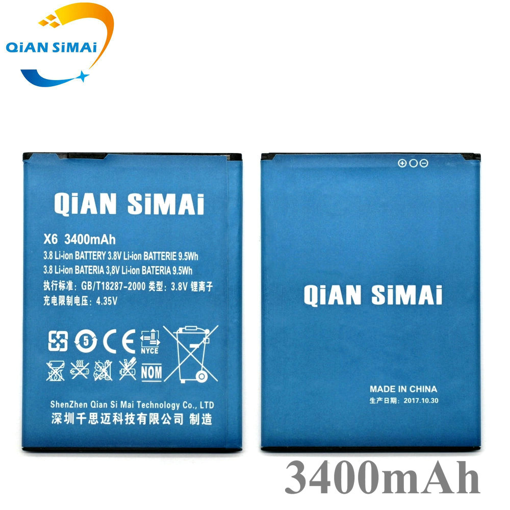 QiAN SiMAi 1PCS New DOOGEE X6 3400mAh Li-ion Battery Replacement For Doogee X6 Pro Cell Phone - IN Stock