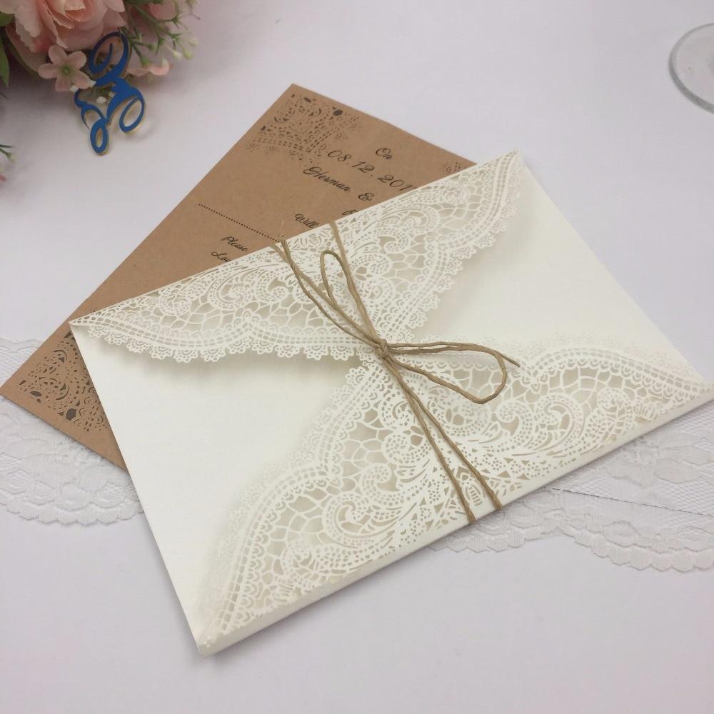 100pcs Graceful lace valentine\'s day card laser Cut invitations ...