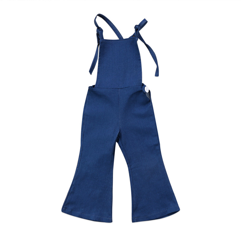 Summer 2017 Toddler Girls Denim Overalls For Girls Jumpsuits Romper Trousers Kids Baby Jeans 1-6T classic men plus size denim bib overalls multi pockets washed blue oversized jean jumpsuits for male big and tall
