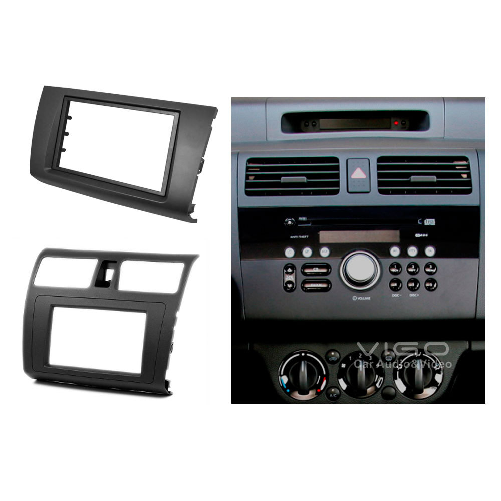 car radio facia for suzuki swift headunit dash fitting kit. Black Bedroom Furniture Sets. Home Design Ideas