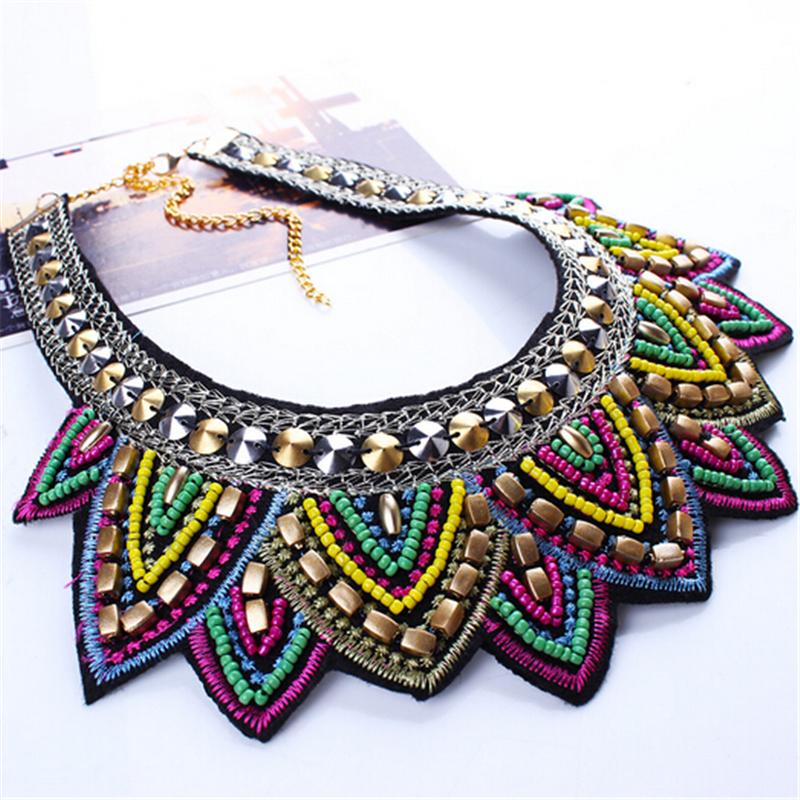Female vintage choker pendants&necklaces big boho necklaces ethnic bohemian jewelry statement tribal Colorful bijoux femme mujer 9