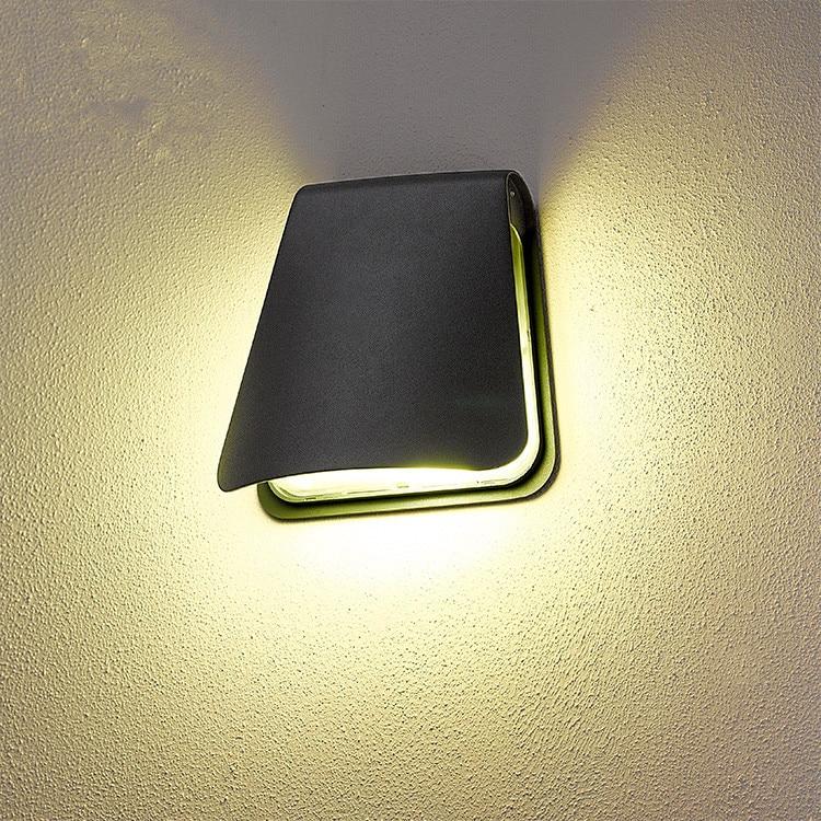 Водонепроницаемый алюминиевый наружный светодиодный настенный светильник современная Европейская креативная наружная Балконная дверь для сада и коридора освещение Крепление для фонаря