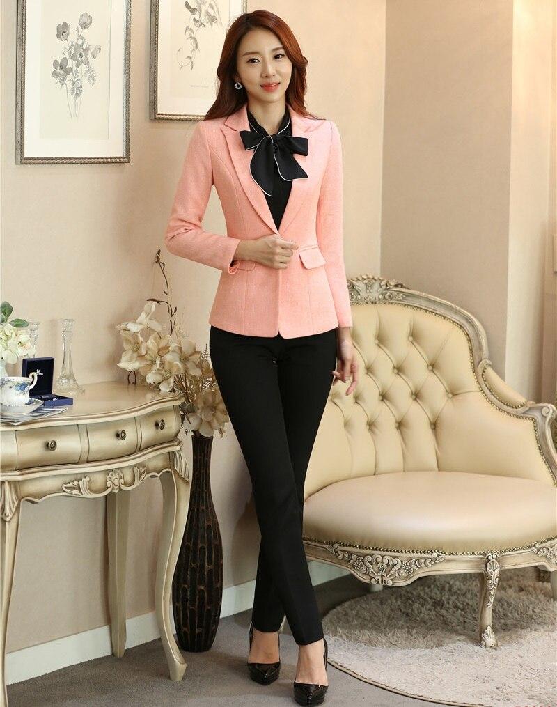 5a8a286dd610d0 Dames Veste Femme D'affaires Ensembles Blazer Vêtements Femmes Et ...