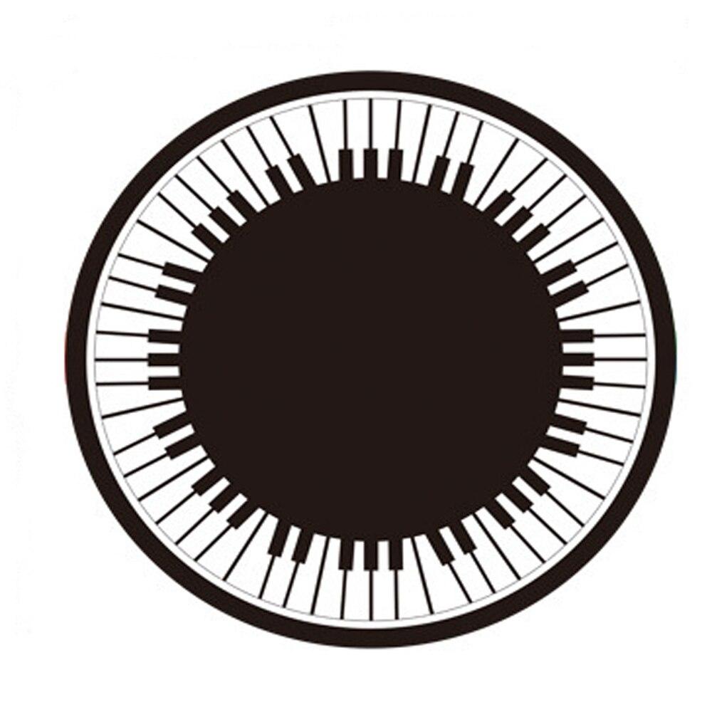 Cristal doux velours Fiber noir et blanc rond Piano Rectangle rayure géométrie motif tapis rond salon chambre tapis