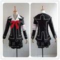 Vampire Knight Cosplay Vestido de Yuki Cruz Blanca/Negro Uniforme de Tamaño Personalizado Envío Gratis