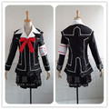 Vampire Knight Cosplay Yuki Vestido Cruz Branca/Preto Uniforme Tamanho Personalizado Frete Grátis
