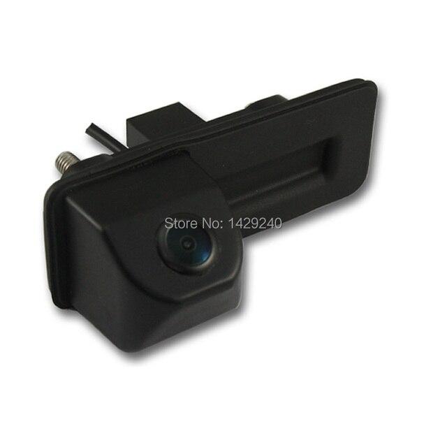 Для skoda octavia fabia audi A1 автомобильная камера заднего вида автостоянка камера Багажника ручка камера Ночного видения водонепроницаемый цвет #4451