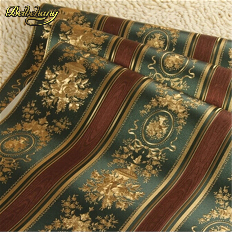 beibehang Roll Living Room TV Wall Paper Waterproof Papel De Parede Roll European Luxury Gold Foil Wallpaper 3D Floral Striped beibehang 3d wallpaper 3d european living room wallpaper bedroom sofa tv backgroumd of wall paper roll papel de parede listrado