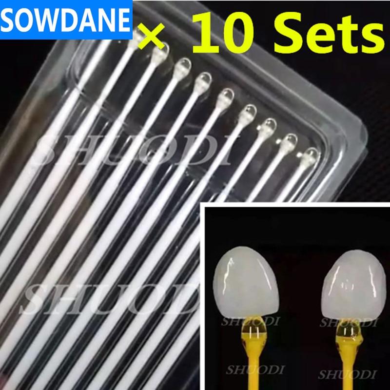 100 Pcs Dental Sticks Staff Rubber Tools for Bonding porcelain veneer Random Color
