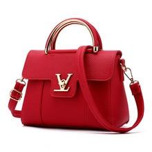 2016 Hot Flap V Women's Luxury Leather Clutch Bag Ladies Handbags Brand Women Messenger Bags Sac A Main Femme loui Handle