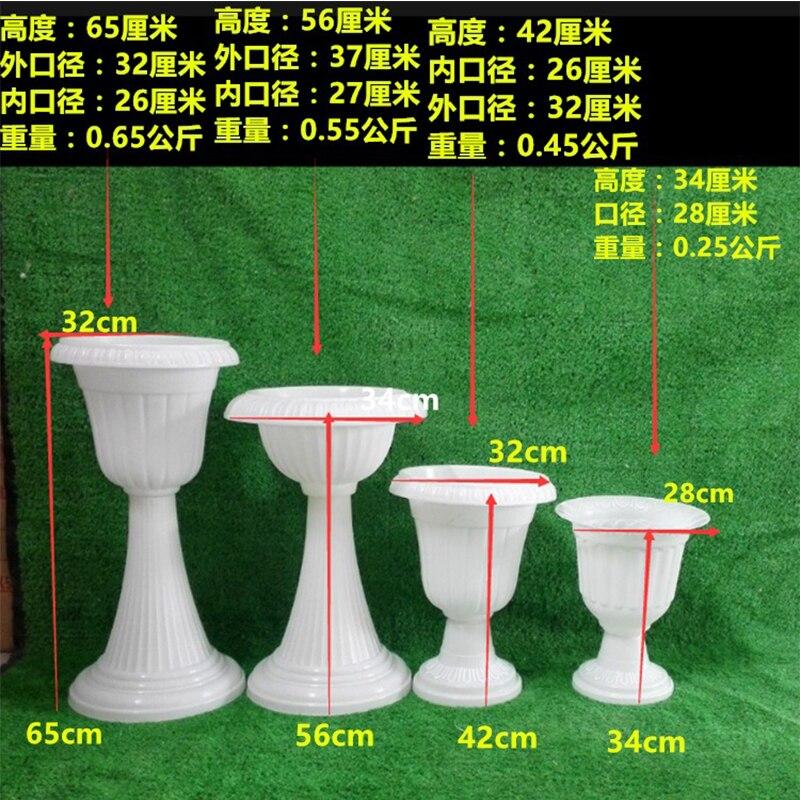Европейский стиль римские колонны белого цвета Пластиковые Столбы дорога цитируется свадебные реквизит украшения для мероприятий 2 шт./партия - 2