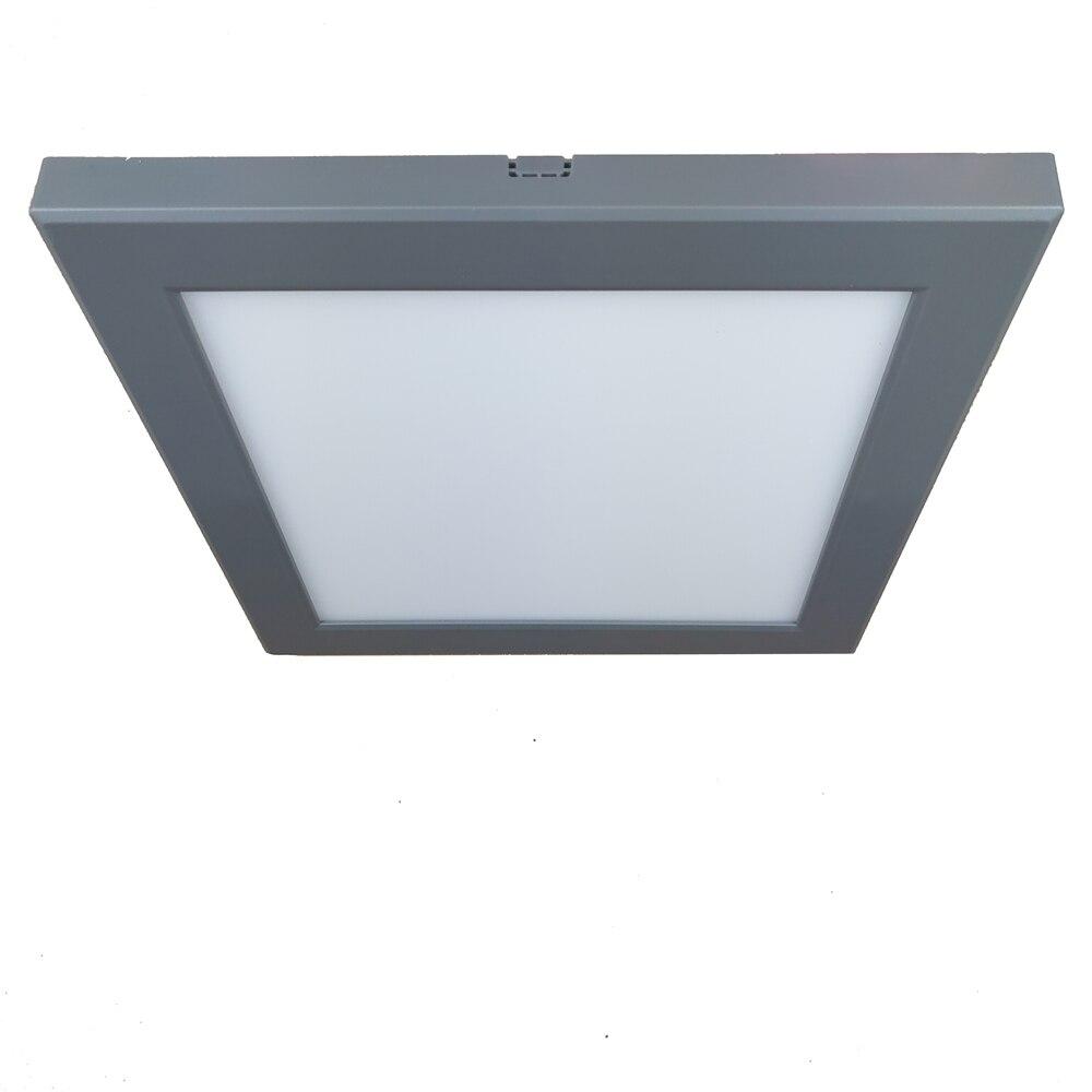 22.5 × 22.5 センチメートルグレーフレーム 18 ワット天井マウントランプ超薄型フリッカーフリー 4000 18K LED パネルホームルーム