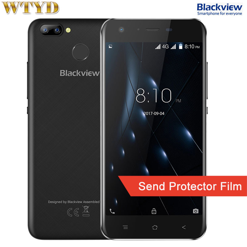Blackview A7 Pro RAM 2GB+ROM 16GB Dual Back Cameras Fingerprint Identification 5.0'' Android 7.0 MTK6737 Quad Core up to 1.3GHz