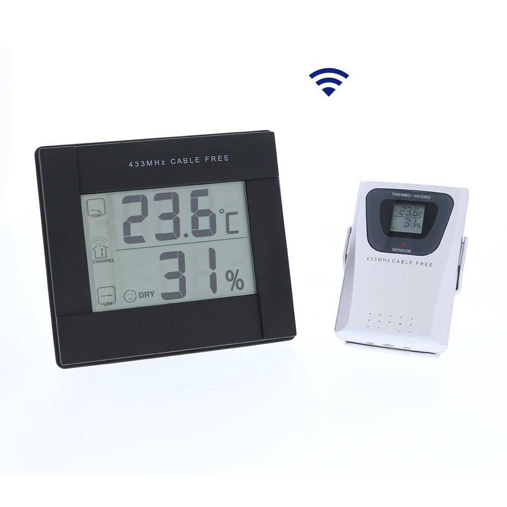Digital Thermometer and Hygrometer with Remote Sensor Greenhouse Temperature and Humidity Meter Monitoring System Grower 39 s Edge in Agricultural Greenhouses from Home amp Garden