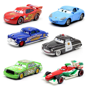 Disney Pixar Racing Cars 2 3 Toys Lightnig Mcqueen Mater Jackson Storm Ramirez 1:55 Diecast Metal Alloy Toy Model For Boys image