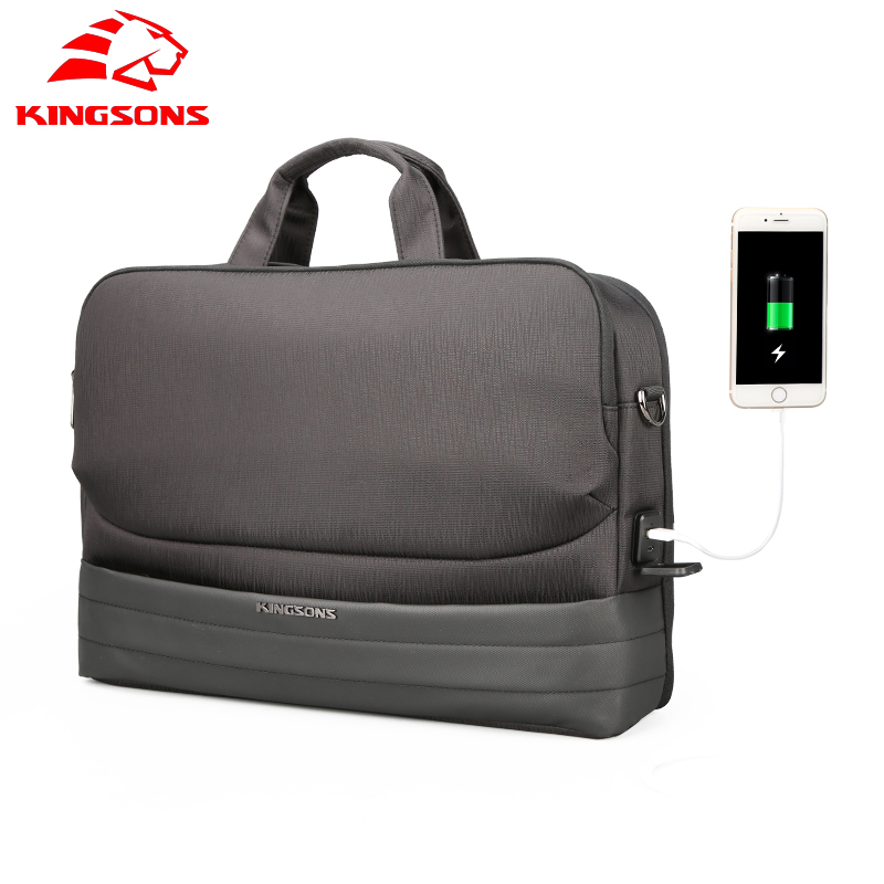 Kingsons Brand New Men 15.6 Inch Laptop Briefcase Bag Handbag Nylon Travel Briefcase Office Bags Business Computer Shoulder Bags new men 14 inch laptop briefcase bag waterproof handbag mens nylon briefcase men s office bags business computer bags