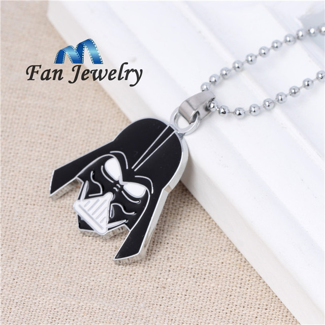Anime jewelry Top quality stainless steel Star Wars Black Knight