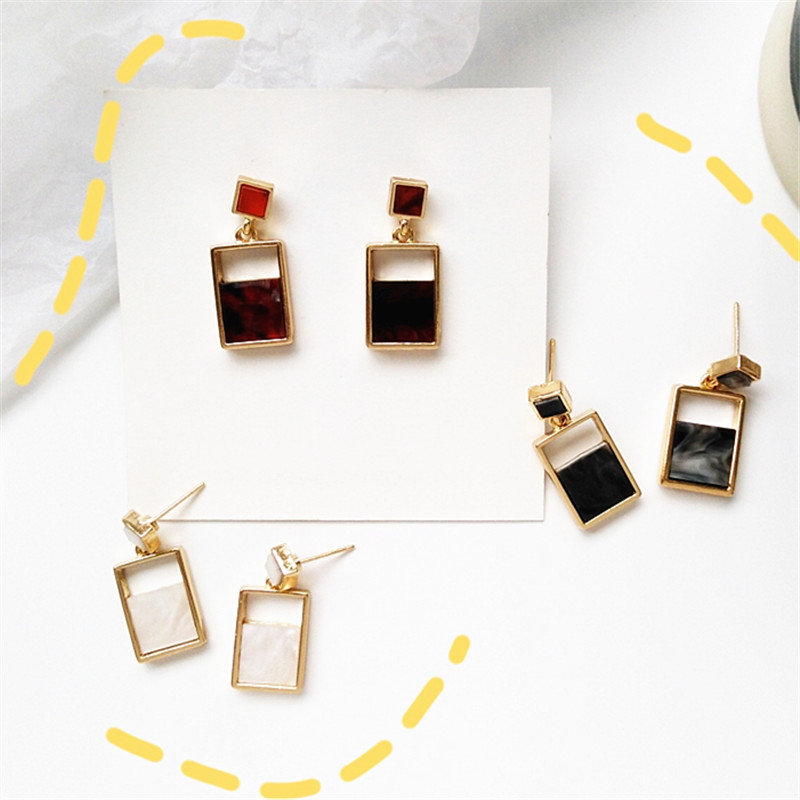 Creative fashion lady geometric ladys style restoring ancient ways womens temperament earrings daily wear