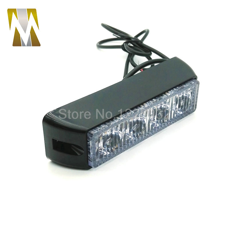 High quality 4 led car emergency beacon light bar 12 flashing mode high quality 4 led car emergency beacon light bar 12 flashing mode 4w 12v led strobe light for universal fit hazard truck in car light assembly from aloadofball Image collections