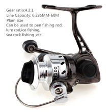 weihefishing Mini Fishing Reel Palm Size Metal Coil Poket Small Spinning Reel for Ice Fish Pen Fishing Rod