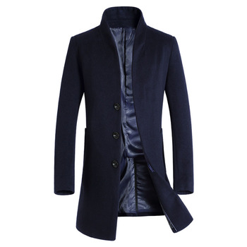 MRMT 2020 Brand Autumn Men's Jackets Wool In The Long Overcoat for Male Youth Leisure Slim Wool Woolen Cloth Coat Clothing