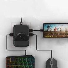 NEX คีย์บอร์ดเม้าส์แปลง Station Docking อะแดปเตอร์สำหรับโทรศัพท์ Android PUBG Gamepad จอยสติ๊กเกมคอนโทรลเลอร์ BattleDock