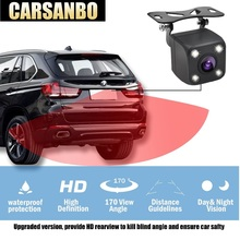 Carsanbo Universal Car Rear View Camera Night Vision Backup Parking Reverse Camera Waterproof 170 Wide Angle HD Color Image car rear camera car backup reverse camera rear view camera with 170 wide angle and cheap price parking assist