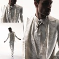 SML 2016 Mens Wedding Suits White Tuxedos For Men 3 Pieces One Button Suit Custom Groom Wear vestidos trajes de novio hombre