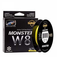 MONSTER W8 Quality 150M Braided Fishing Line 8 Strands Weaves Super Thin 0 8 PE Multifilament