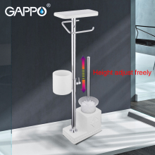 GAPPO toilet brush Holders white bathroom toilet holders free standing accessories brushed bathroom Toilet Brush holder цена