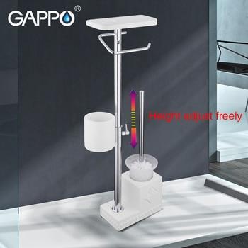 GAPPO toilet brush Holders white bathroom holders free standing accessories brushed Toilet Brush holder