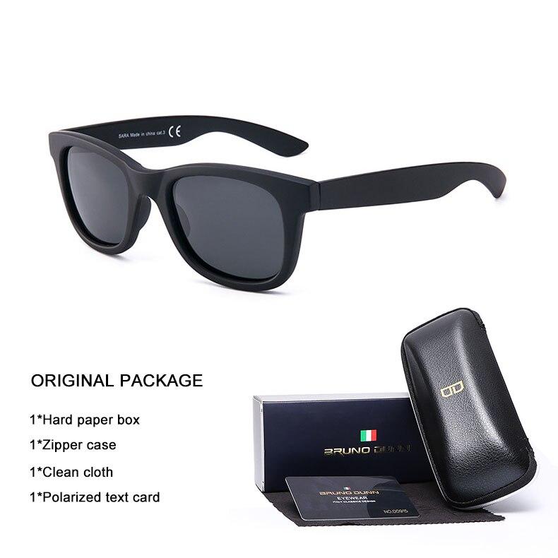 Bruno Dunn Retro Sunglasses Polarized 2018 vintage Luxury Brand Design sun glases for Men Women Ray lunette soleil homme oculo